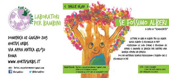Favoloso Hortus Urbis | SE FOSSIMO ALBERI … | Laboratorio per bambini | 2  LT31